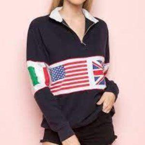 Brandy Melville-isabella (flag) sweatshirt